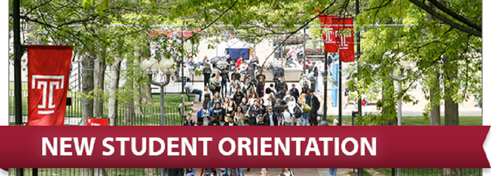 New Student Orientation on Liacouras Walk